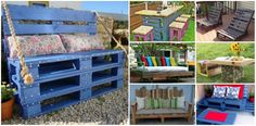 Outdoor Pallet Furniture DIY ideas and tutorials- fabartdiy