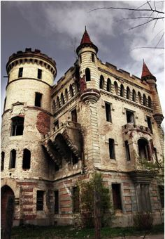 Abandoned castle in Russia