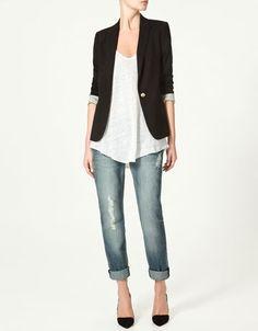 JERSEY BLAZER - Blazers - Woman - New collection - ZARA Costa Rica - StyleSays