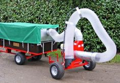 Professional leaf vacuum. We offer a complete range of solutions for clearing leaves such as leaf vacuums and sweepers, both with pedestrian operated, towable and trailer mount options. For more info: http://www.fresh-group.com/leaf-clearing-equipment.html