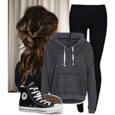 A fashion look from April 2013 featuring DC Shoes sweatshirts and Converse shoes. Browse and shop related looks.
