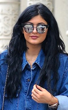 Classic from Kylie Jenner's Hair Evolution  Nothing beats her classic lengthy, raven tresses.