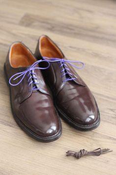 Alden 990 Color 8 Shell Cordovan Plain Toe Blucher Oxford 12 AAA/A #Alden #Oxfords #Menswear