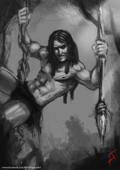 Tarzan , Furqan Adil on ArtStation at https://www.artstation.com/artwork/rzDWa