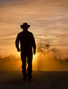 Cowboy Sunset...Thanks Misty this photo is really getting out there. Tell Greg this one rocks!