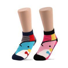 Women's Winter Soft Warm Bed Sleep Anklet Fuzzy Socks of Penguin Series #DreamTree #AnkleSocks