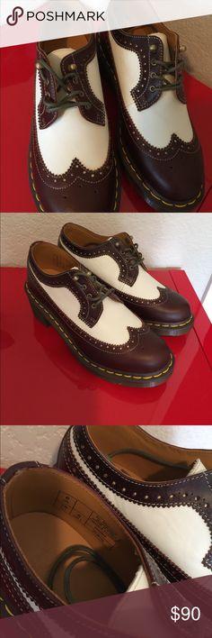 NWOT Doc Martens Oxfords 8 Excellent clean condition brand new brown/white  Size 8 Dr Martens Shoes Platforms