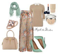 Beige and Green Hijab Outfit http://lehijabdedoudou.wordpress.com