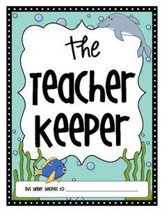 The Teacher Keeper {Ocean Themed Organizational Binder}