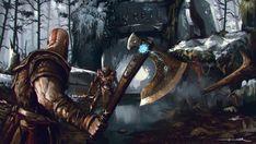 Kratos God of War 4 Axe Game Art Fantasy Wallpaper