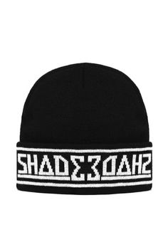 This is the SHADE London Knitted Beanie Hat in Black d19a11997c60