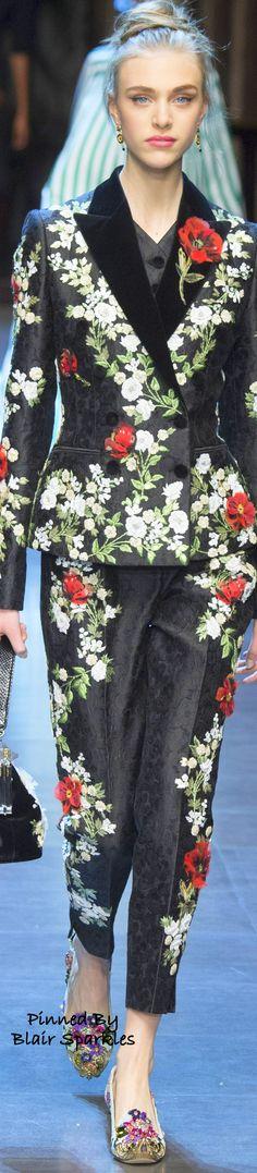 SPRING RTW 2016 (MFW) Dolce & Gabbana ~ ♕♚εїз | BLAIR SPARKLES |
