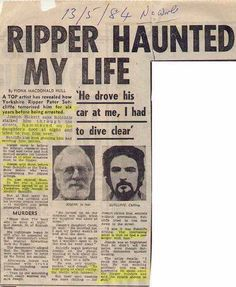 Interviews | THE REAL YORKSHIRE RIPPER STORY