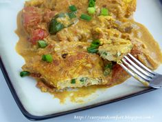 Sri Lankan Spicy Omelete Curry