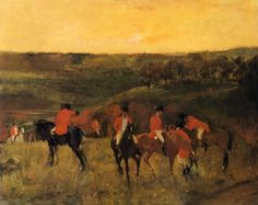 The Mante Family - Edgar Degas - WikiArt.org The Start of the Hunt, 1863-1865