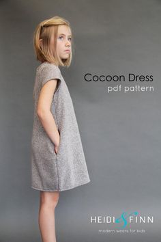 Cocoon Dress - Release + tester roundup (HeidiandFinn modern wears for kids) Sewing Kids Clothes, Sewing For Kids, Baby Girl Dresses, Baby Dress, Cocoon Dress, Kanzashi, Kurti Designs Party Wear, Clothing Patterns, Sewing Patterns