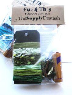 Green Fiber Bundle  ACEO Card Kit DIY Fiber by TheSupplyDestash