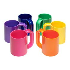 Heller Dinnerware - Vignelli Rainbow Mug - Set of 6 - I didn't know these were still made! YAY!!