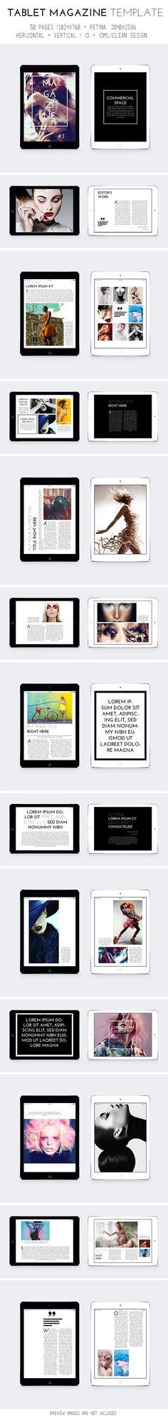 Tablet Magazine Template on Behance
