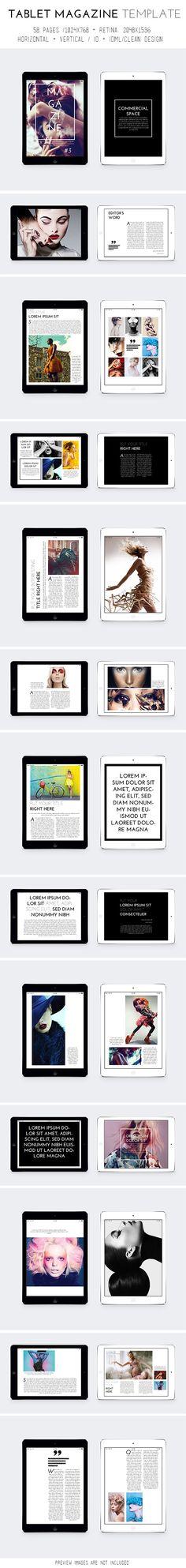 Tablet Magazine Template on Behance