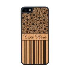 Customizable Black Stripes and Circles Carved® Cherry iPhone 5 Slim Case