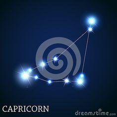 Signe de zodiaque de Capricorne du beau lumineux