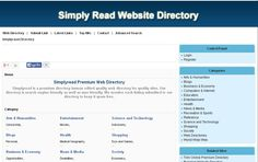 Simplyread Premium Web Directory http://www.simplyread.org/
