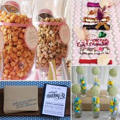 Like the flavored popcorn.. Best Baby Shower Ideas 22 TIPS AND TRICKS TO MAKE YOUR BABY SHOWER SHINE