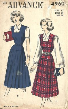 Advance 4960 / Vintage 40s Sewing Pattern / by studioGpatterns
