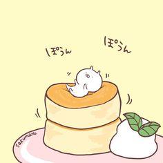 """sakumaru@うさまるといっしょさんのツイート: """"ふあっふあなパンケーキの上でバウンドしてたい… """""""