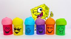 Learn Colors with Spongebob Magic Spring and Jelly Beans for Children an...