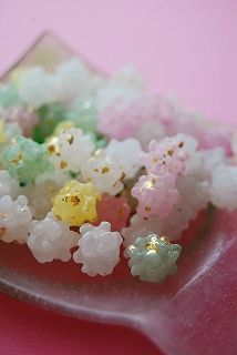 Japanese confetti, Konpeito ~ I seriously thought these were made of sticky rice. . .hoho