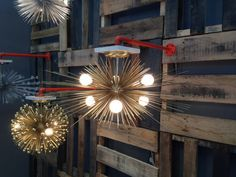 6-Bulb Gold Urchin Chandelier 24 Diameter by Stimulight on Etsy