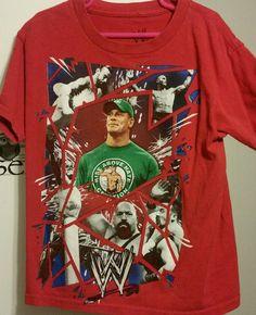 WWE John Cena Big Show Sheamus Randy Punk T-Shirt kids size 8 #WWE #Everyday