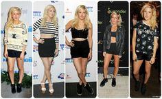 Ellie Goulding Style: tomboy, crop-top y short-short