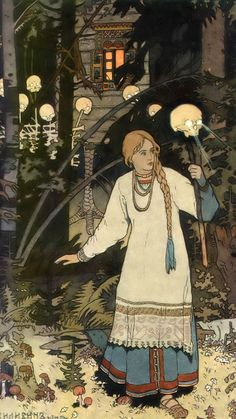 Ivan Bilibin-Vasilisa the Beautiful_1080x1920 Ivan Bilibin, Master Studies, Golden Age, Fairy Tales, Backgrounds, Background Pics, Adventure Movies, Fairytail, Backdrops