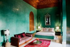 ღღ Best dressed hotel: The Riad El Fenn in Morocco was also praised for its 'innovative and exemplary aesthetic' after it scooped the best-dressed hotel award