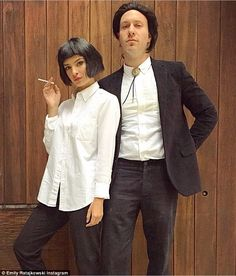 Twist champions: Last Halloween, Ratajkowski enlisted the Cambridge musician to be the Vincent Vega to her Mia Wallace in Pulp Fiction costumes