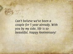 Happy, Funny and Wedding Anniversary Quotes for him and her, for parents, couples, husband and wife. All years Anniversary Quotes and Images from the heart. Anniversary Message For Boyfriend, Anniversary Quotes For Friends, Happy Anniversary Messages, Anniversary Funny, Anniversary Gifts, Husband Anniversary, First Wedding Anniversary Quotes, Anniversary Verses, Dating Anniversary