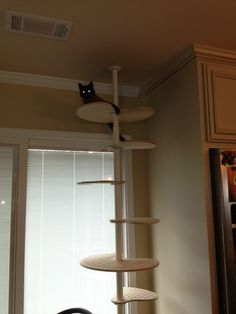 Customer gallery contempocat uses ikea stolmen post custom shaped shelves cat stuff - Modern cat tree ikea ...