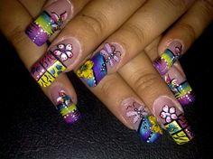 Beautiful Colors by VivianasNails - Nail Art Gallery nailartgallery.nailsmag.com by Nails Magazine www.nailsmag.com #nailart