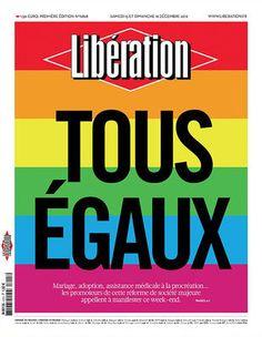 Affiche Libé Tous égaux / 40 x 50 cm Tous égaux - Image Republic - Décoration et mobilier design avec Made in Design