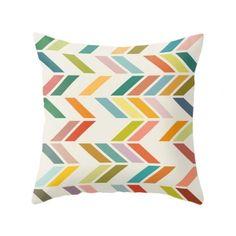 Geometric ZigZag Cushion in Lime | Cult Furniture UK