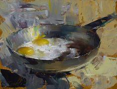 In the Shiny Pan, 9x12, Oil, Ignat Ignatov