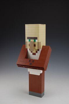 Lego Custom Minecraft Villager by BrickBum Minecraft Creations, Lego Minecraft, Jenga, Bookends, Toys, Home Decor, Activity Toys, Decoration Home, Room Decor