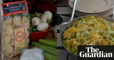 Two well-trodden recipes for pea and ricotta pesto and sliced courgettes converge in a landmark baked pasta dish.