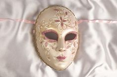 Pink and Gold Full Faced Venetian Masks - VOLTO FIORE
