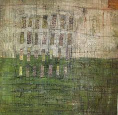 Jennifer Solon - Possibilities of Spring  Mixed media collage, 24in. x 24in.