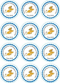 Lion King Printable Cupcake Toppers or Tags by jennya309 on Etsy $4.50