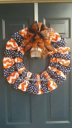 Check out this item in my Etsy shop https://www.etsy.com/listing/470908309/auburn-football-wreath-auburn-rag-wreath